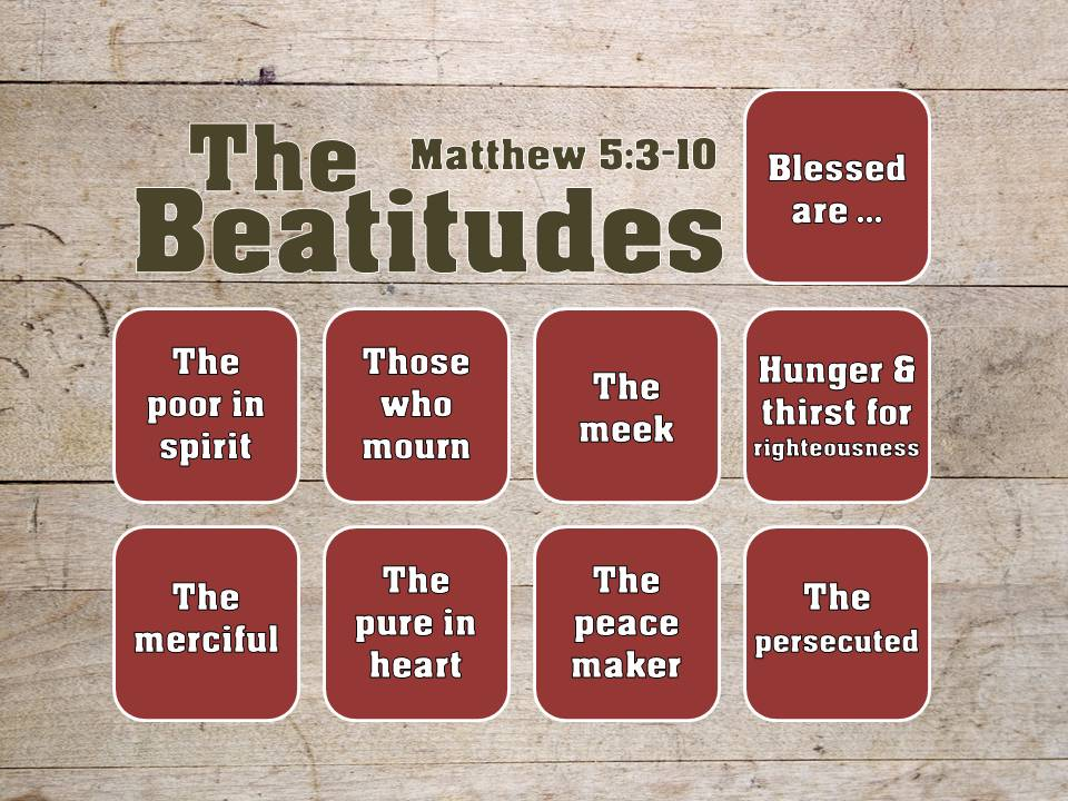 New sermon series kingdom character the beatitudes yardley