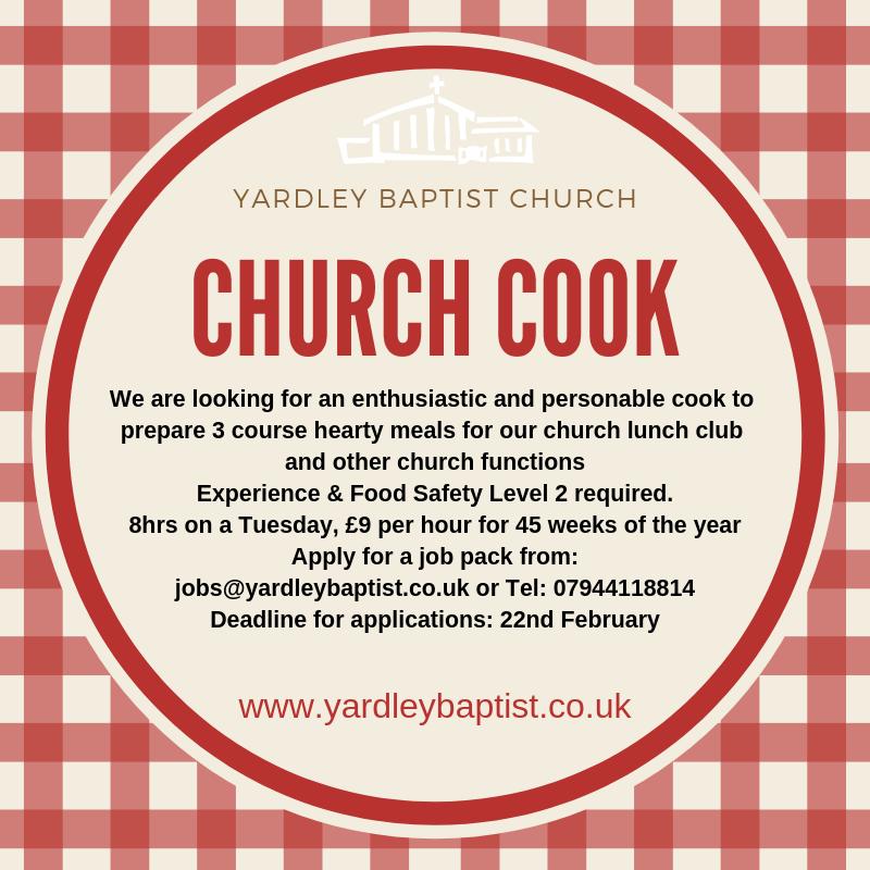 jobs – Yardley Baptist Church